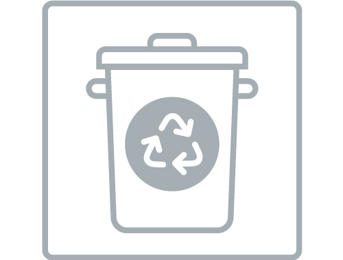 Imagem de resíduo sólido